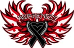 Melanoma Heart Awareness Wings Shirts