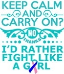 Thyroid Cancer Keep Calm & Fight Like A Girl Tees