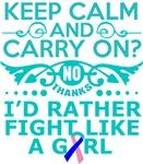 Thyroid Cancer Keep Calm & Fight Like A Girl Tees