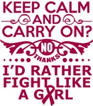 Multiple Myeloma Keep Calm Fight Like A Girl Tees