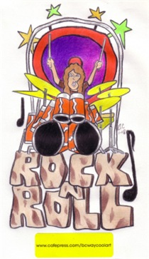 rock-n-roll drummer
