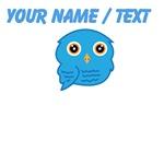 Custom Light Blue Owl