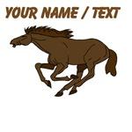 Custom Brown Stallion Galloping