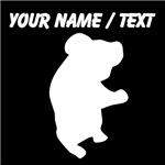 Custom Koala Bear Silhouette