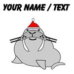 Custom Christmas Walrus