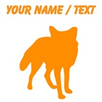 Custom Orange Fox Silhouette