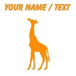 Custom Orange Giraffe Silhouette