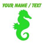 Custom Green Seahorse Silhouette