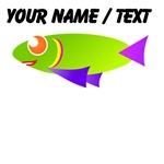 Custom Green Fish Cartoon