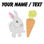 Custom Grey Rabbit With Carrot
