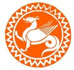 Orange Dragon Circle Icon