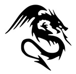 Black Dragon Serpent With Wings