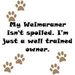 Well Trained Weimaraner Owner