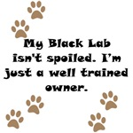 Well Trained Black Lab Owner