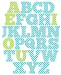 Blue And Green Alphabet