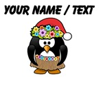 Custom Hawaiian Christmas Penguin