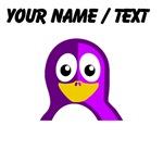 Custom Purple Penguin