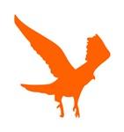 Orange Landing Eagle Silhouette
