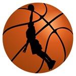 Basketball Dunk Silhouette
