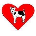 Russell Terrier Heart