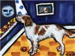 Irish Red & White Setter art