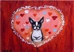 Boston Terrier Valentine Hearts