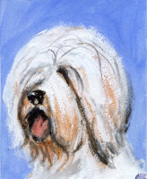 OLD ENGLISH SHEEPDOG ART