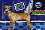 IRISH TERRIER unique fun whimsical Art!