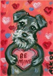 Schnauzer Be Mine Valentine