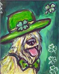 wheaten terrier St Paddy's day