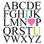 ABC I Love You Alphabet