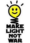 Make Light Not War Light Bulb Smiley