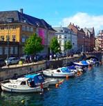 Copenhagen Boat Row, Photo / Digital Painting