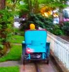 Tiny Ride Along, Photo / Digital Painting
