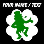 Custom Dancing Leprechaun Shamrock