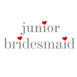 Gray Text Jr. Bridesmaid