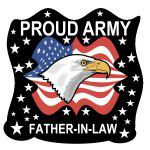 Eagle Proud Army Father-in-Law Tshirts