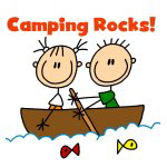 CAMPING STICK FIGURE T-SHIRTS AND GIFTS