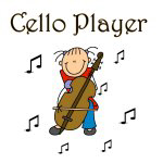 Stick Figure Cello Player T-shirts and Gifts