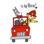 Fire Fighter Stick Figure T-shirts and Gifts