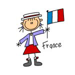 France Stick Figure T-shirts and Gifts