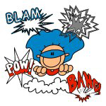 Blam Pow Super Boy T-shirts and Gifts