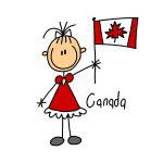 Canada Ethnic Stick Figure T-shirts and Gifts