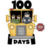 School Bus 100 Days of School T-shirts