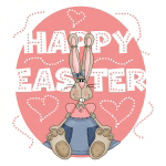 Girl Bunny Happy Easter T-shirts and Gifts