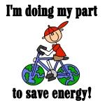 Bicycle Save Energy Tshirts and Gifts