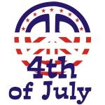 Peace 4th of July Tshirts and Gifts