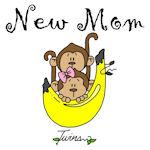 Monkeys Mom of Twins Tshirts and Gifts