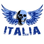 Italian Blue Vintage Skull
