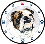Bulldog and Paws Design